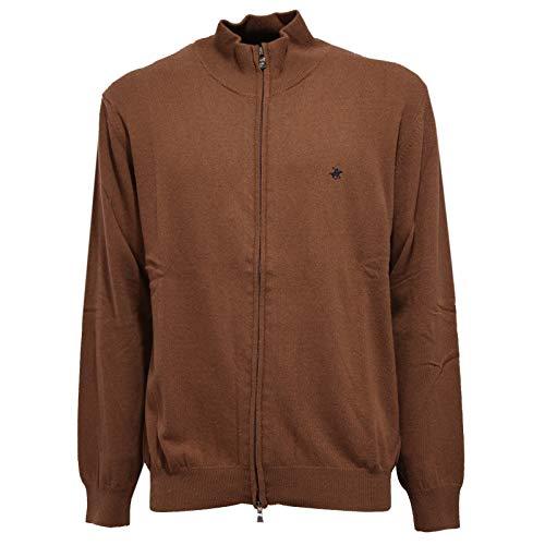Beverly Hills Polo Club 5852K Cardigan uomo Brown Mix Wool/Cashmere Sweater Man [XL]