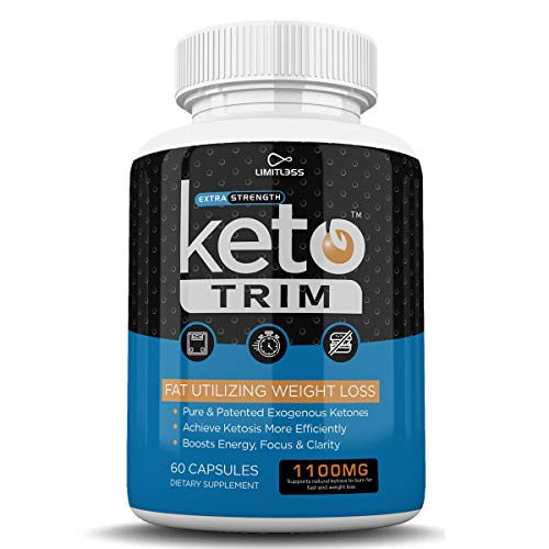 Keto Trim Pills - Fat Utlizing Weight Loss - Limitless Labs - 1100MG - 180 Capsules - 90 Day Supply 7