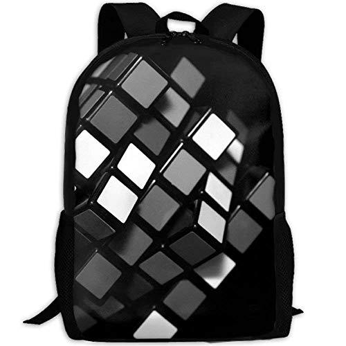 Webb Mochila Maletín Portátil Viaje Senderismo Mochilas Escolares Negro Rubik Cube Elegante Mochilas Bolso de Hombro -