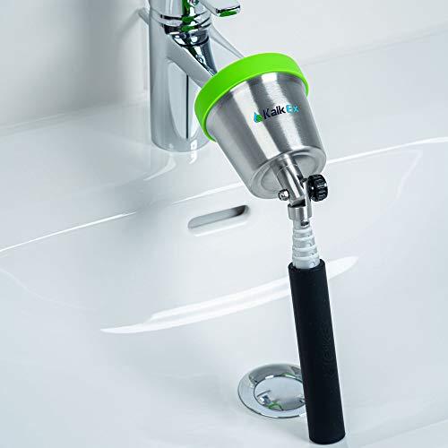 Kalk Ex Premium Wasserhahn Entkalker Aufsatz - Schnell und einfach Wasserhahn entkalken. Nie wieder Kalk, Bakterien oder Viren am Perlator