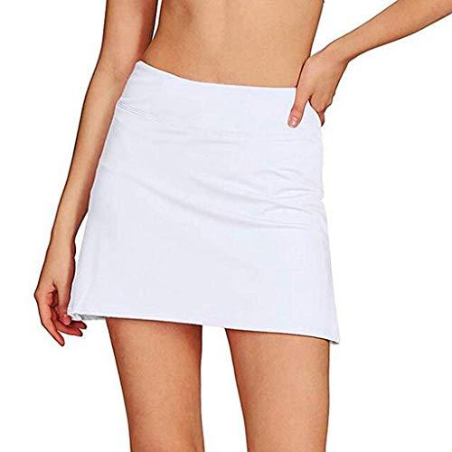 TOPUNDER Women's Tennis Golf Skirt with Underneath Shorts Pleated Pencil Running Skorts