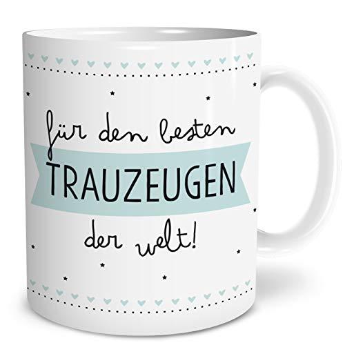 OWLBOOK Bester Trauzeuge Große Kaffee-Tasse mit Spruch im Geschenkkarton Geschenke Geschenkideen für Trauzeuge zur Hochzeit