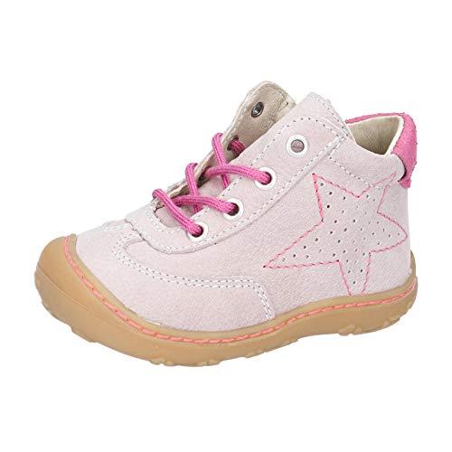 RICOSTA Mädchen Lauflern Schuhe SAMI von Pepino, Weite: Mittel (WMS),terracare, detailreich leger schnürschuh flexibel leicht,Viola,22 EU / 5.5 Child UK