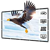 LNGOOR プロジェクター スクリーン シワなし (取り付けのツール付き) サイズ 16:9 持ち運び ホームシアタースクリーン 投影用 屋外屋内用 映画 スクリーン (72インチ)