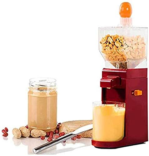 VARWANEO New Upgraded 500ml 110v Electric Peanut Butter Maker, Mini Peanut Butter Machine, For Cashew Nut Hazelnut Sesame Coffee Grinder (With Non-Slip Base), Hourglass Inlet, Abs + Stainless Steel