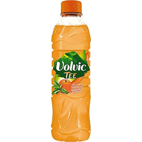24 Flaschen Volvic Tee Pfirsich a 500ml inc. 6,00€ EINWEG Pfand PET Flasche
