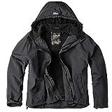 Surplus Windbreaker Zipper Outdoor Jacke, schwarz, 5XL