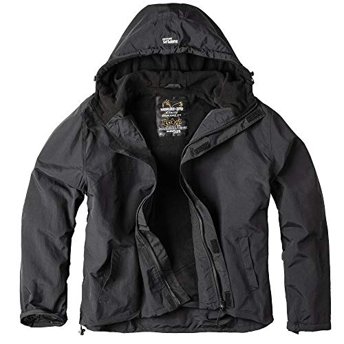 Surplus Windbreaker Zipper Outdoor Jacke, schwarz, XL