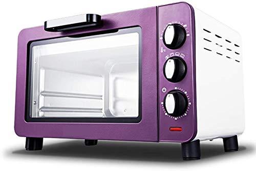 15l mini horno horno eléctrico horno multifuncional hornear pastel microondas horno vertical pequeño horno cocina electrodomésticos púrpura