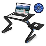 Laptop Table, Adjustable Great Laptop Bed Table, Portable Laptop Workstation Notebook Stand Reading Holder,Ergonomic Lap Desk TV Bed Tray Standing Desk
