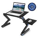 Laptop Table, Adjustable Laptop Bed Table, Portable Laptop Workstation Notebook Stand Reading Holder,Ergonomic Lap Desk TV Bed Tray Standing Desk