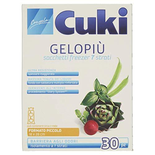 Cuki - Sacchetti Freezer Gelopiù, Formato Piccolo (18 X 28 Cm) -   30 Pezzi