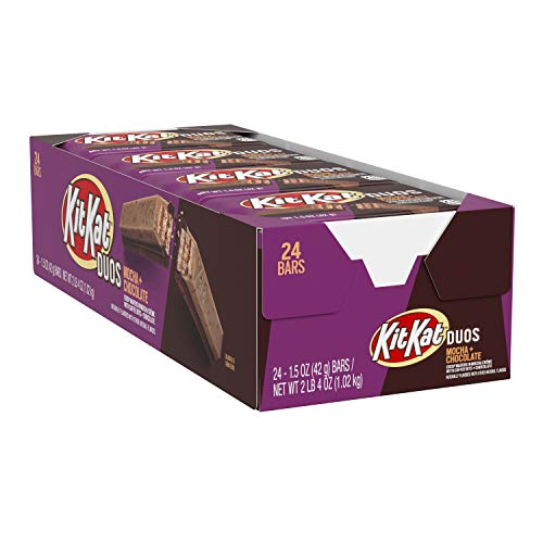 KIT KAT DUOS Mocha Crème and Chocolate Wafer Candy Easter 15 oz Bars 24 Count