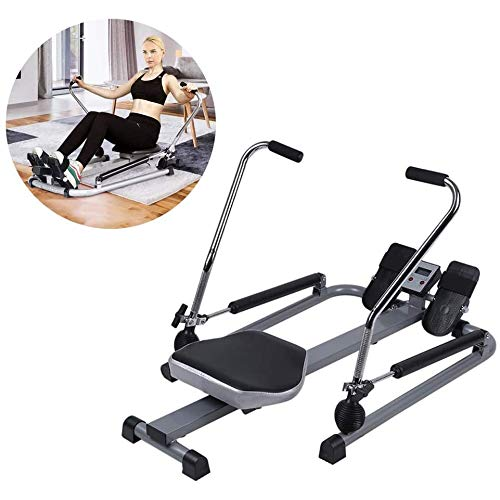 LQRYJDZ Faltbare Hydraulische Rudergeräte, Home Gym Workout Ausrüstung Übung Rower mit LCD-Display Magnetische Rudergerät Folding-Übungs-Sport