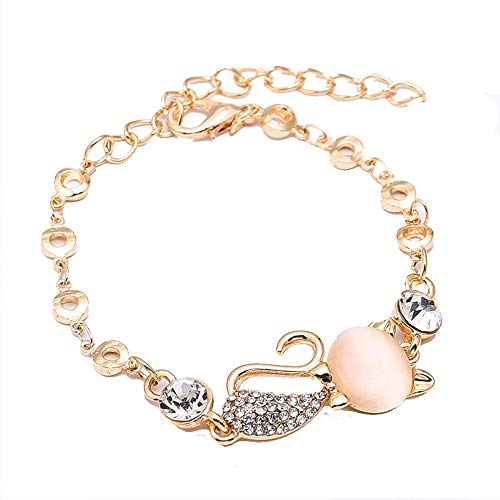 Dames Armbanden, Mode Opaal Kat Armband met Diamanten, Betekenis Elegant en Edele