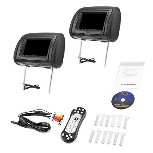 """7\""""Black Car DVD/USB/HDMI Monitor per poggiatesta auto con trasmettitore IR Altoparlanti interni Videogiochi Trasmettitore FM fghfhfgjdfj"""