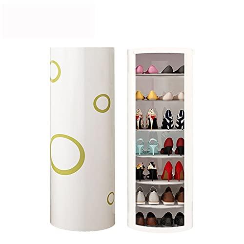 Zapatero Rack de zapatos de 7 niveles Rotación de zapatos de 360 ° Organizador de estantes de almacenamiento de zapatos para múltiples usos para la sala de estar del vestuario del vestuario del vest