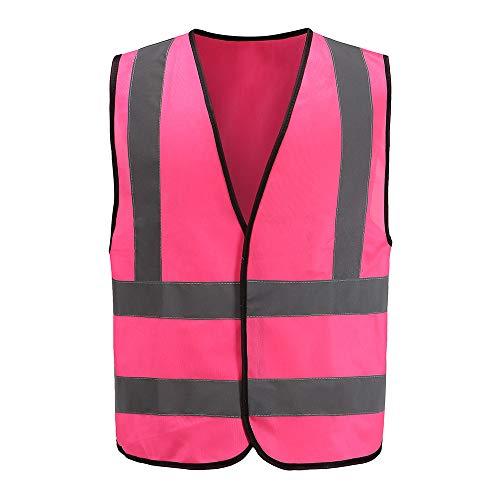 Hi vis Vests Pink Reflective Vest High Visibility hi viz vis Executive Waistcoat(M-3XL) (M, Pinke)