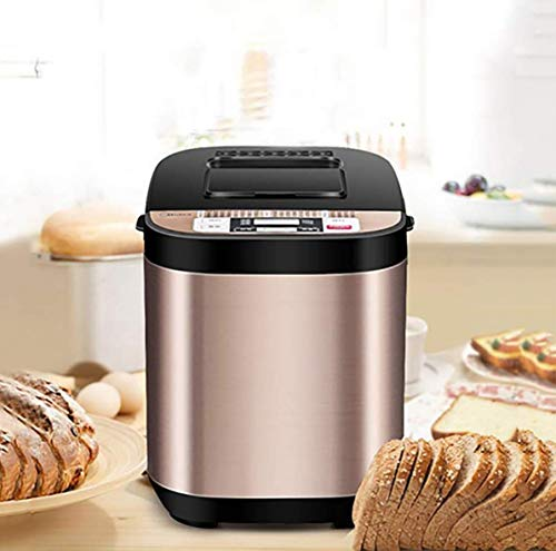 Intelligente broodmachine Programmeerbare broodbakmachine, Glutenvrije instelling, Reserve, Warmhouden met automatische gistdispenser, Fruitnootdispenser
