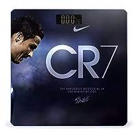 Ronaldo ロナウド 体重計、ステップオンテクノロジーを備えた精密デジタルボディバスルームスケール、強化ガラスイージーリードバックライト付きLCDディスプレイ