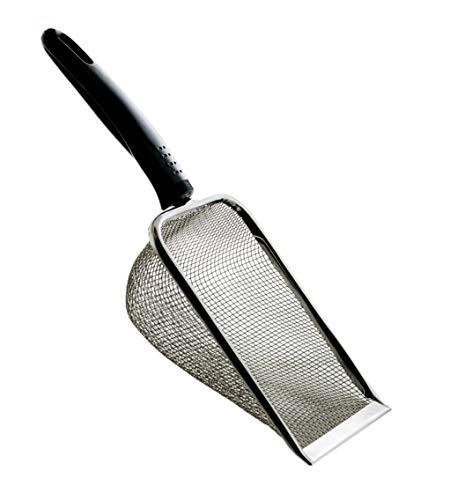 TropicShop Terrarien Metallschaufel für Reptilienkot - Sandsieb | Kotschaufel Schaufel für die Terrarienreinigung