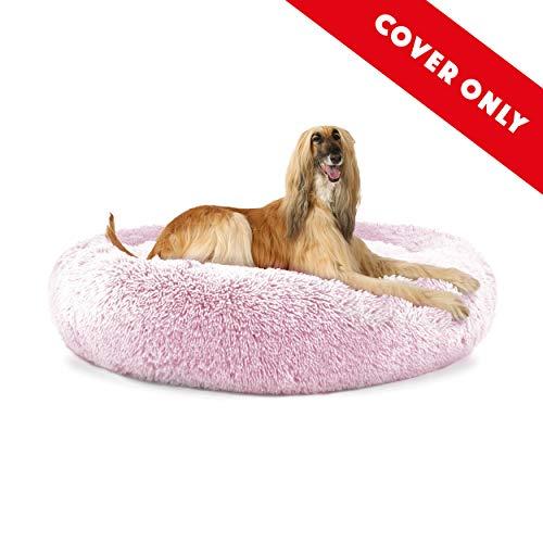 The Dog's Bed Sound Sleep Donut Ersatzbezug für Hundebett, Größe XL, Eisweiß, Plüsch