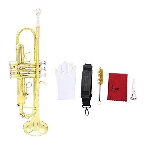 Andoer® Trompeta Bb B Flat Latón Exquisita con Boquilla Pa