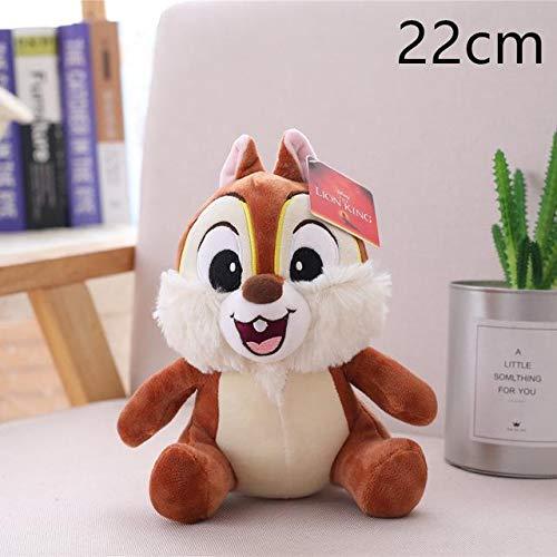 N / A Gute Qualität Süße Simba Der König der Löwen Plüschtiere Film Weiche Kuscheltiere Chip & Dale Eichhörnchen Puppe für Kinder Geburtstagsgeschenke 22-33cm