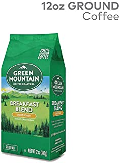 Green Mountain Coffee Roasters, Breakfast Blend, 12 oz. Ground Bag, Light Roast Coffee, (3) Bags