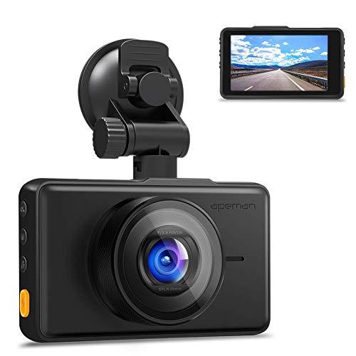 APEMAN Dashcam 1080P Full HD Autokamera 3 Zoll LCD-Bildschirm 170 ° Weitwinkel, Wide Dynamic...