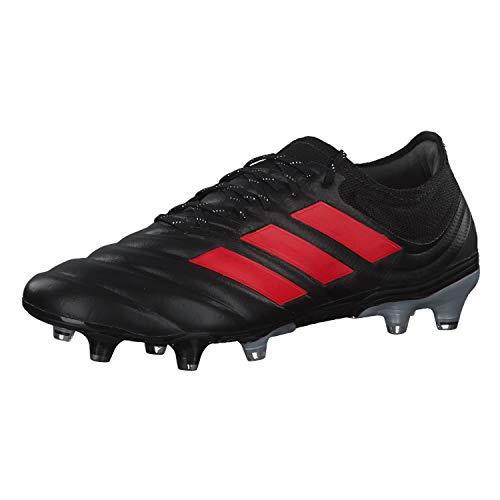 adidas Copa 19.1 FG, Bota de fútbol, Core Black-Hi Red-Silver Metallic, Talla 11 UK (46 EU) 🔥