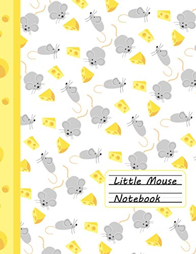 Little Mouse Notebook - Primary Composition Notebook For Kids (Story Journal): Drawing Space and Lined Paper with Dotted Midline (white): School Exercise Book - Learn To Draw And Write