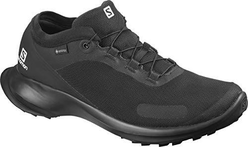 Salomon Herren Trail Running Schuhe, SENSE FEEL GTX, Farbe: schwarz (Black/ Black/Black) Größe: EU 44