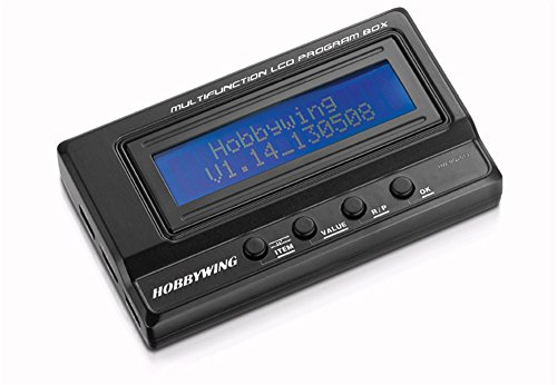 Price comparison product image Hobbywing 3 In 1 Professional Multifuction LCD Program Box RC Car Program Card 30502000014 Black