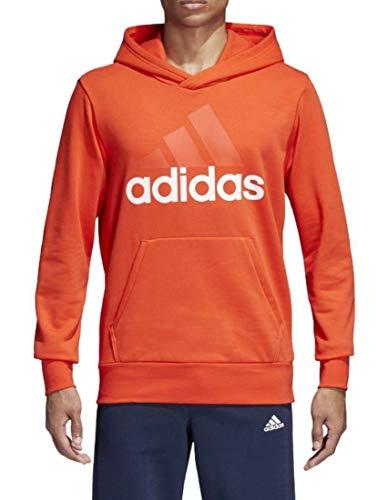 adidas ESS LIN P/O FT Sudadera con capucha, Hombre, Rojo/Blanco, L