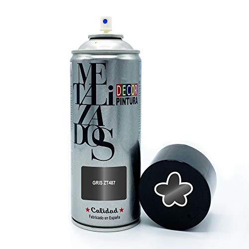 Pintura Spray METALIZADA Gris 400ml imprimacion para madera, metal, ceramica, plasticos / Pinta Radiadores, bicicleta, coche, plasticos, microondas, graffiti
