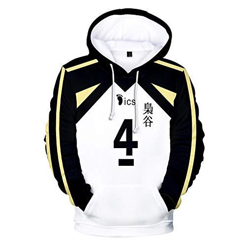 Japón Anime Haikyuu Cosplay Disfraz Fukurodani Academy Voleibol Club Akaashi Keiji Bokuto Koutarou Sudadera con capucha 3D unisex