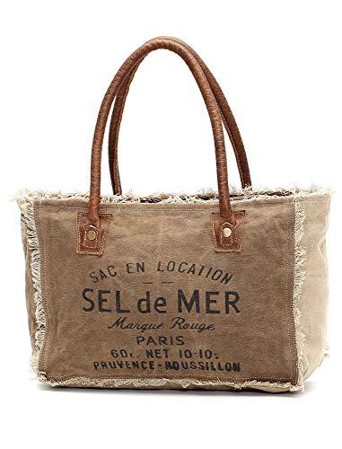Myra Bags Sel De Mer Upcycled Canvas Hand Bag S-1046