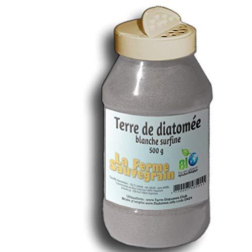 La Ferme Sauvegrain Terre de Diatomée Alimentaire Blanche surfine - en poudreur - 500g