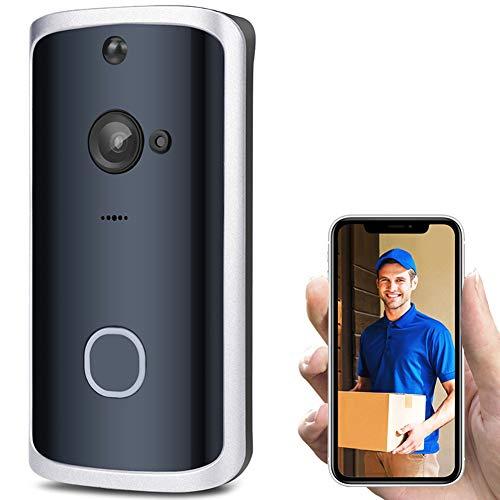 Myfei video-deurbel [2019 upgrade], draadloos, high-definition camera, wifi, realtime videobewaking voor iOS en Android telefoon, nachtzicht