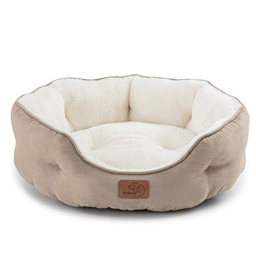 Bedsure Cat Bed for Indoor Cats, 20 inch Dog Bed & Cat Bed, Round Pet Beds for Indoor Cats or Small...