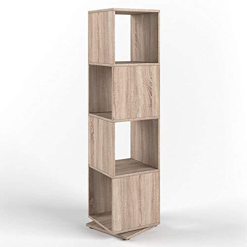 Vicco XXL Drehregal Regal 145cm hoch Ordnerregal Standregal Bücherregal Büro