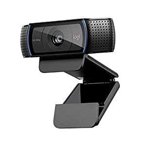 Logitech C920 HD Pro Webcam, Full HD 1080p/30fps Video Calling, Clear Stereo Audio, HD Light Correction, Works with Skype, Zoom, FaceTime, Hangouts, PC/Mac/Laptop/Macbook/Tablet - Black