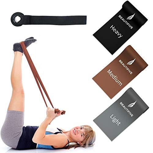 Beautifive Fitnessband 3er-Pack, Langes Training Widerstandsband, Elastisches Trainingsband für Physiotherapie, Rehabilitation, Yoga, Pilates, Krafttraining