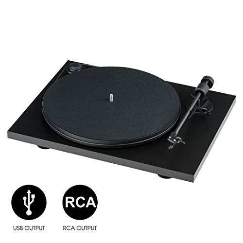 Pro-Ject Primary Phono USB, Manueller Plattenspieler mit Phonovorstufe & USB Ausgang (Schwarz)