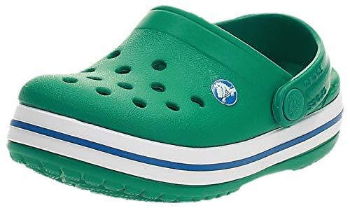 crocs Unisex-Kinder Crocband K Clogs, Grün (Deep Green/Prep Blue 3tv), 27/28 EU