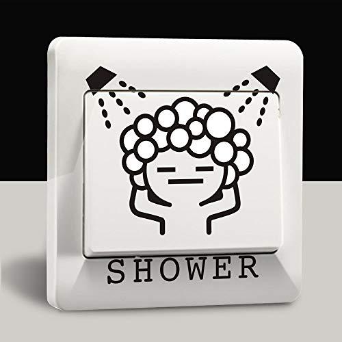 YIDALAO Lichtschalter Aufkleber Mode Kreative Serie Niedlich Küche Bad Schalter Aufkleber PVC Wandaufkleber