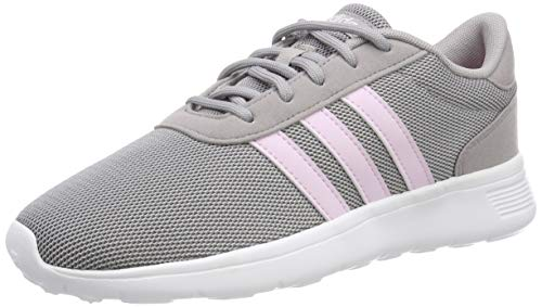 adidas Lite Racer, Damen Laufschuhe, Grau (Light Granite/Aero Pink S18/Ftwr White), 36.2/3 EU (4 UK)