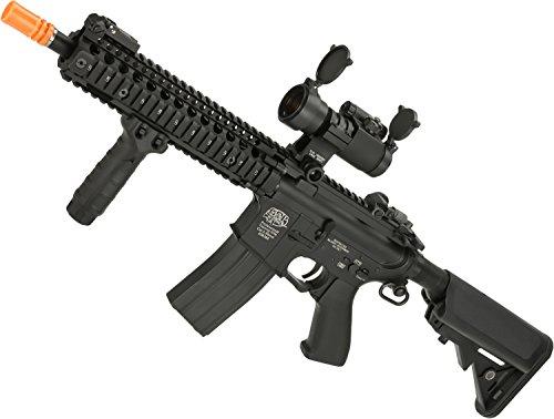Evike - G&P Custom Defender M4 SBR Airsoft AEG Rifle - Black (Package: Gun Only)