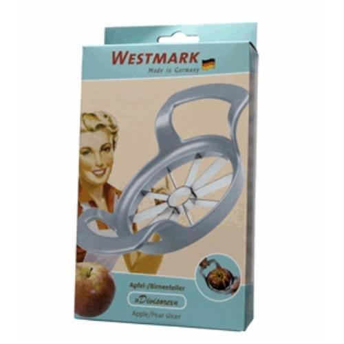 Westmark Apfel- und Birnenteiler, Retro-Design, 17 x 11,1 x 4,3 cm, Rostfreier Edelstahl/Stahl, Divisorex, Silber, 5110RT60